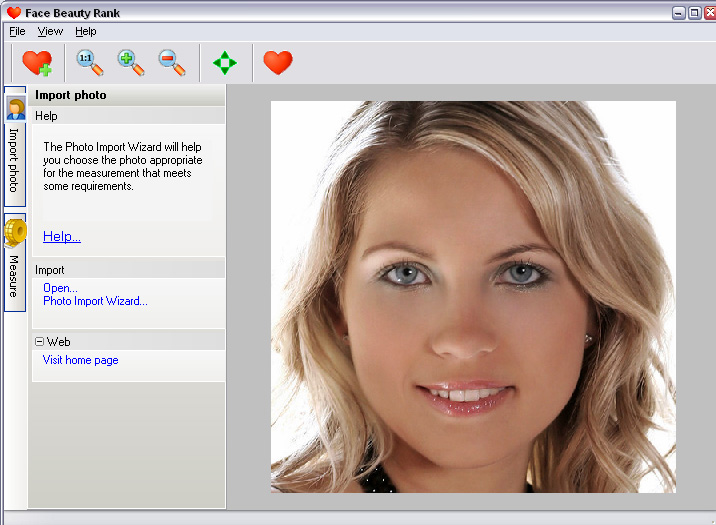Evaluate facial beauty automatically based on the golden section best Screen Shot